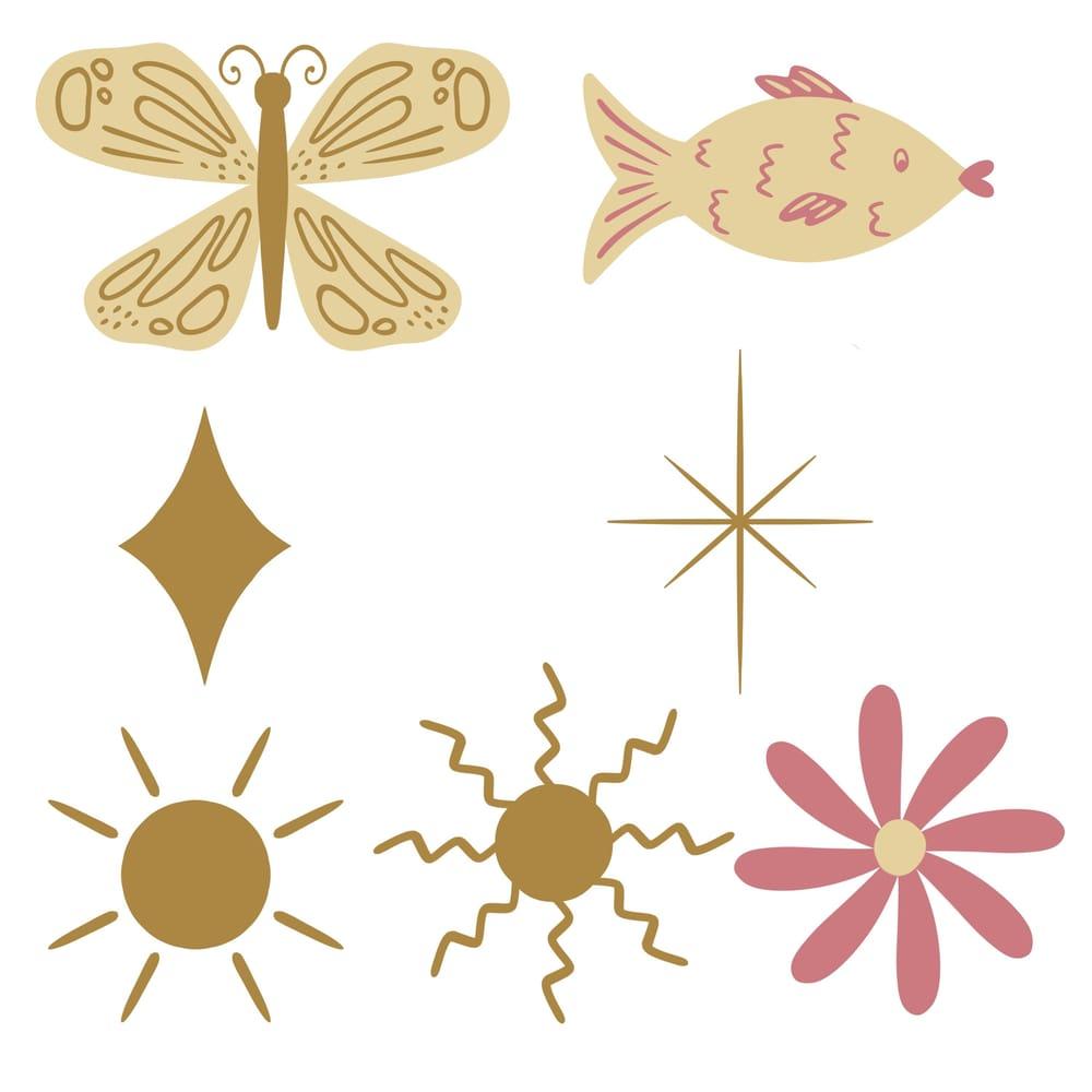 Deer symmetry illustration - image 1 - student project