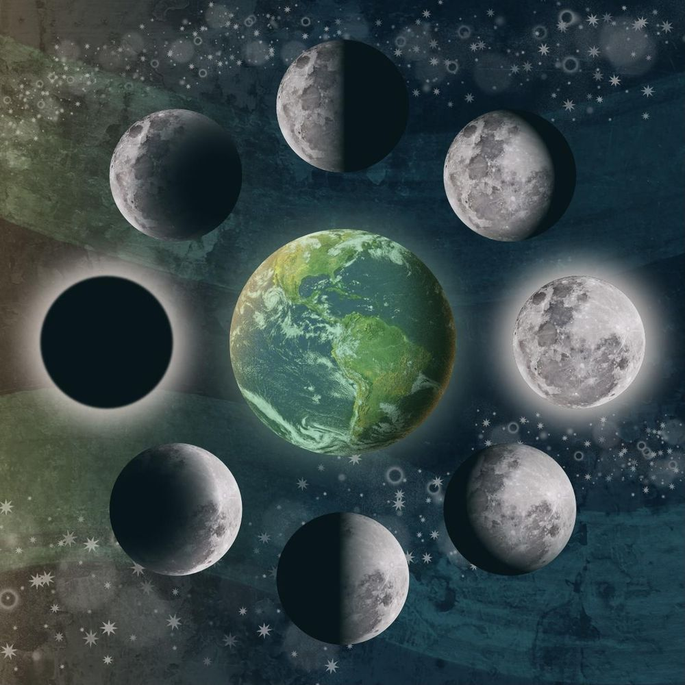 Moon phase illustration - image 2 - student project