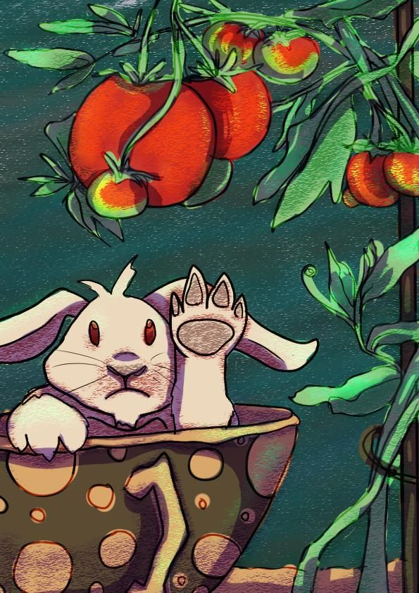 A tomato loving bunny - image 1 - student project