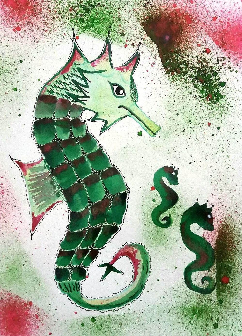 INKy Sea Horses - image 1 - student project