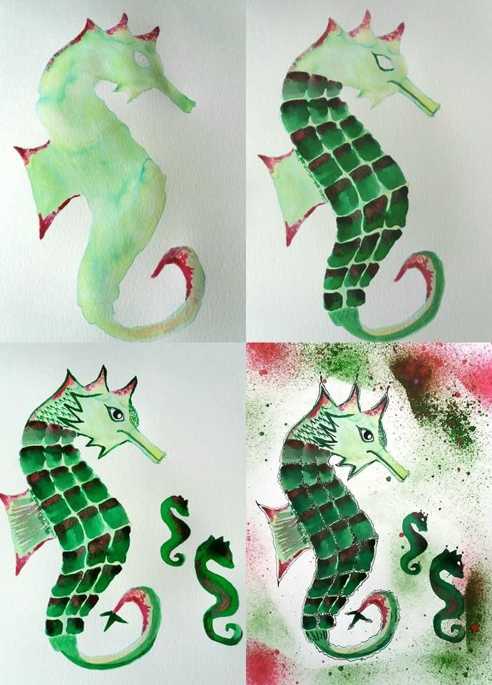 INKy Sea Horses - image 4 - student project
