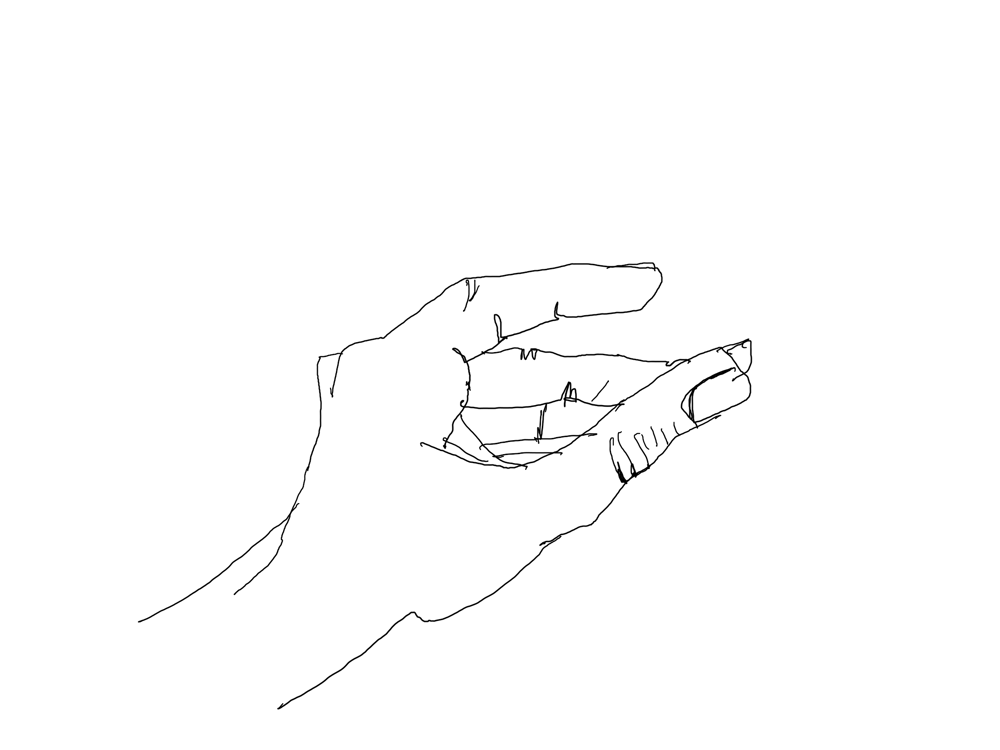 blind contour+simple hand drawing - image 1 - student project