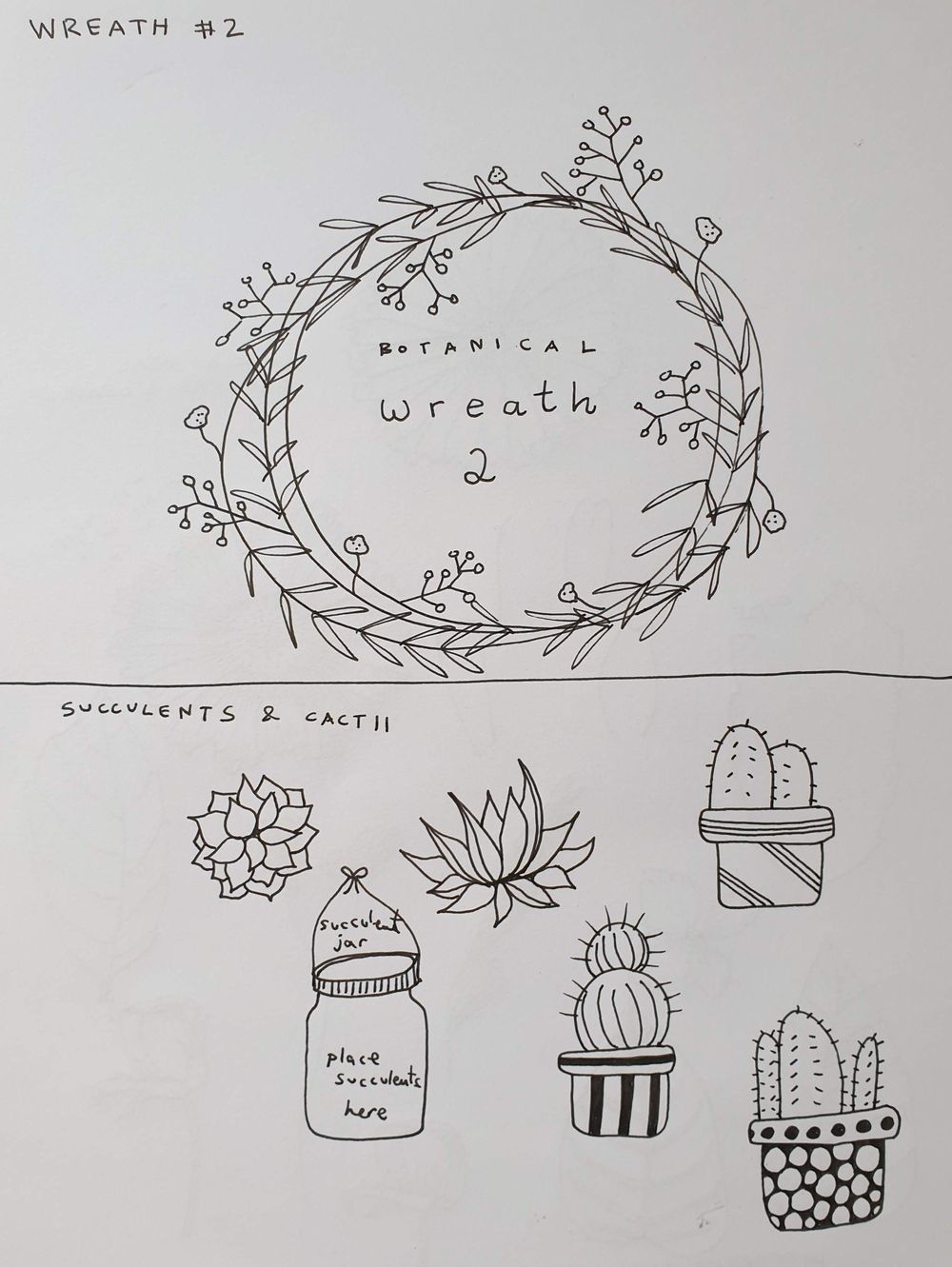 Botanical Line Drawing - image 4 - student project