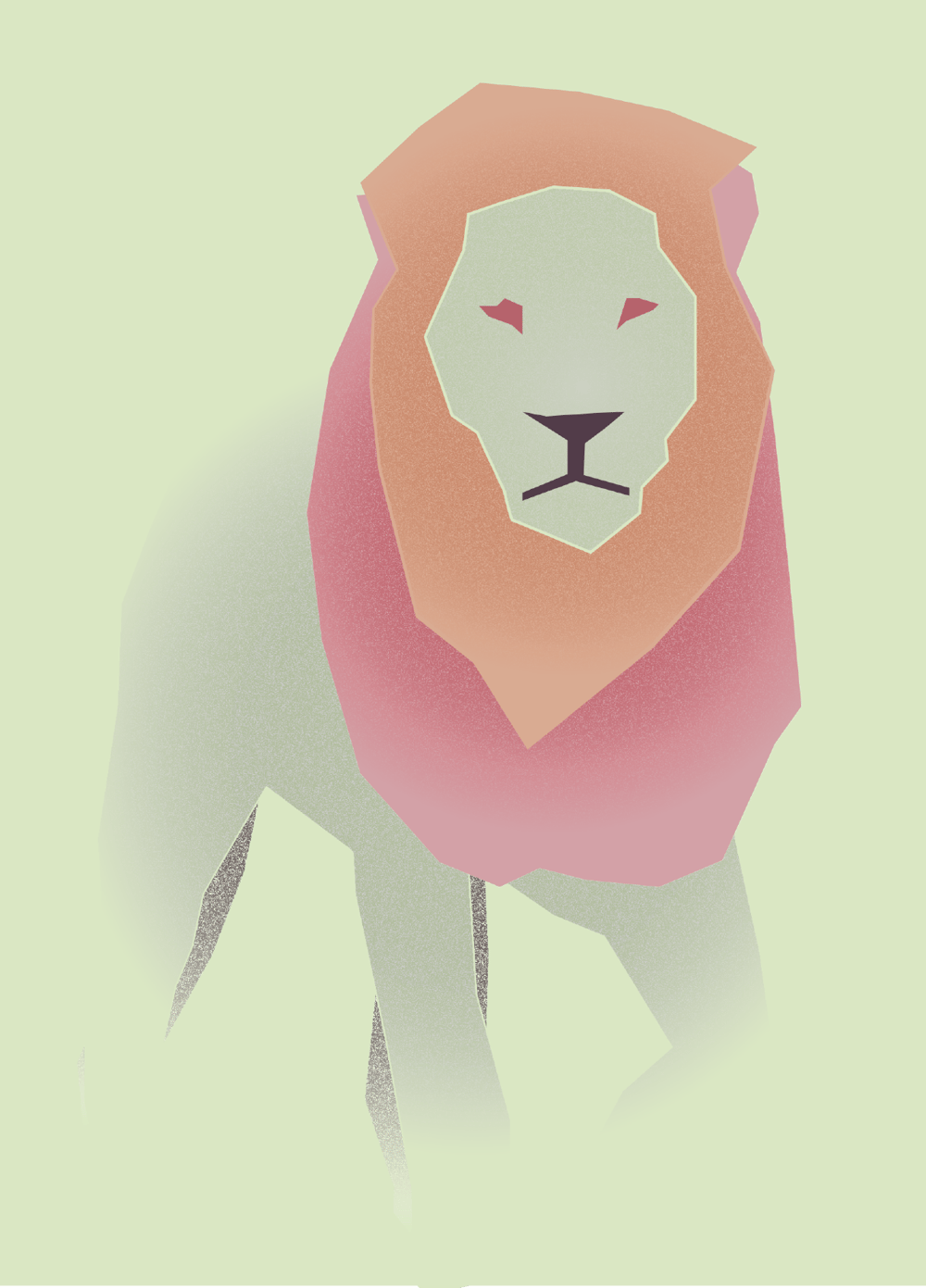 Minimalist Lion - image 1 - student project