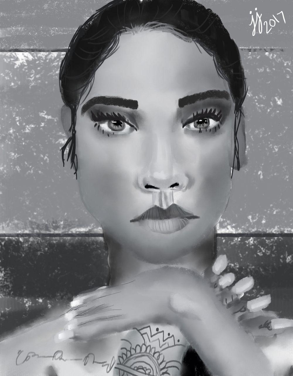 Digital Portrait - image 2 - student project