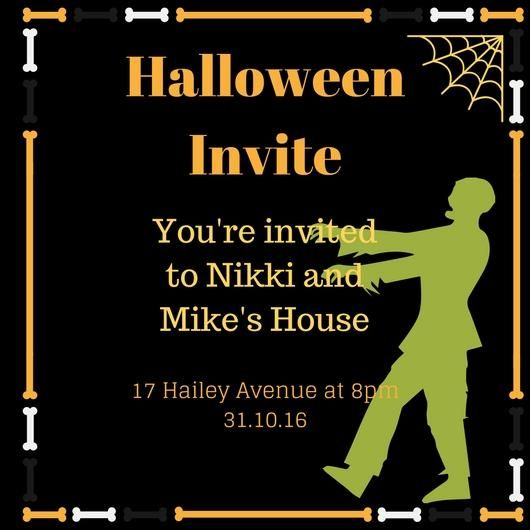 Here's my Halloween Invite (Sample Project) - image 1 - student project