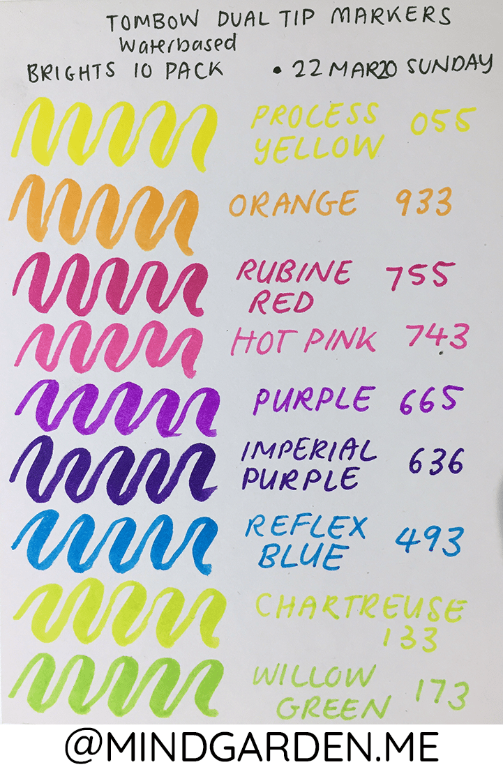 Tombow Dual Tip Markers - Bright 10 Set - image 1 - student project