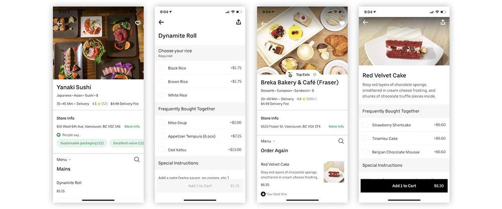 Uber Eats, a heuristic evaluation - image 4 - student project