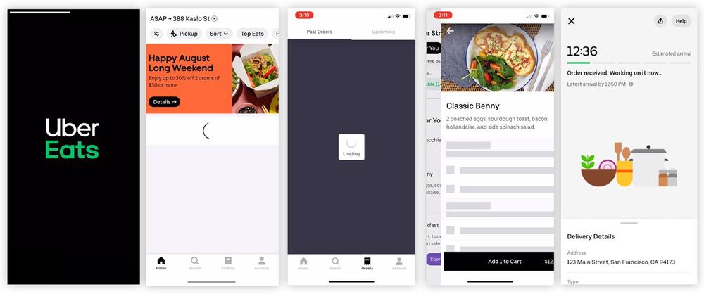 Uber Eats, a heuristic evaluation - image 1 - student project
