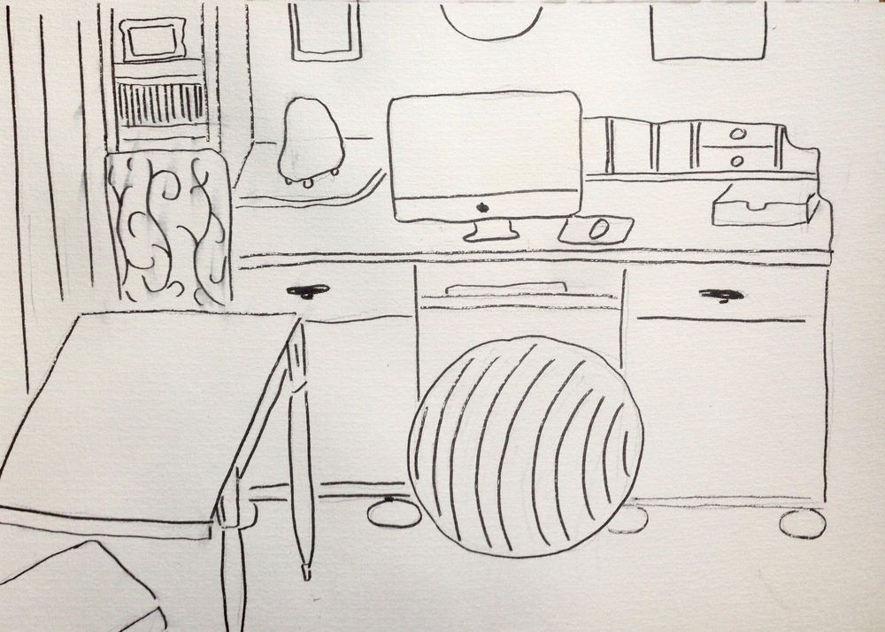 A little sketch of my studio - image 1 - student project