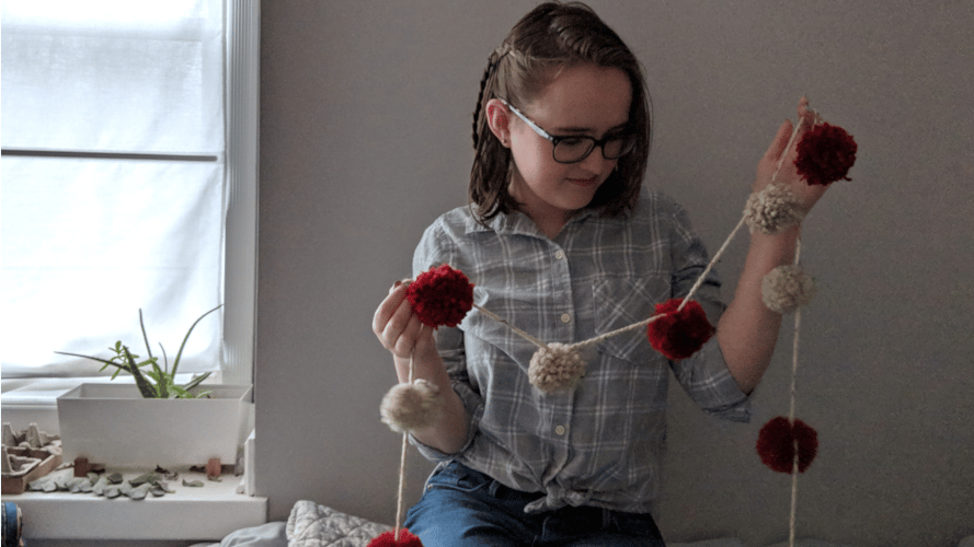My Pom Pom Wall Hanging - image 1 - student project