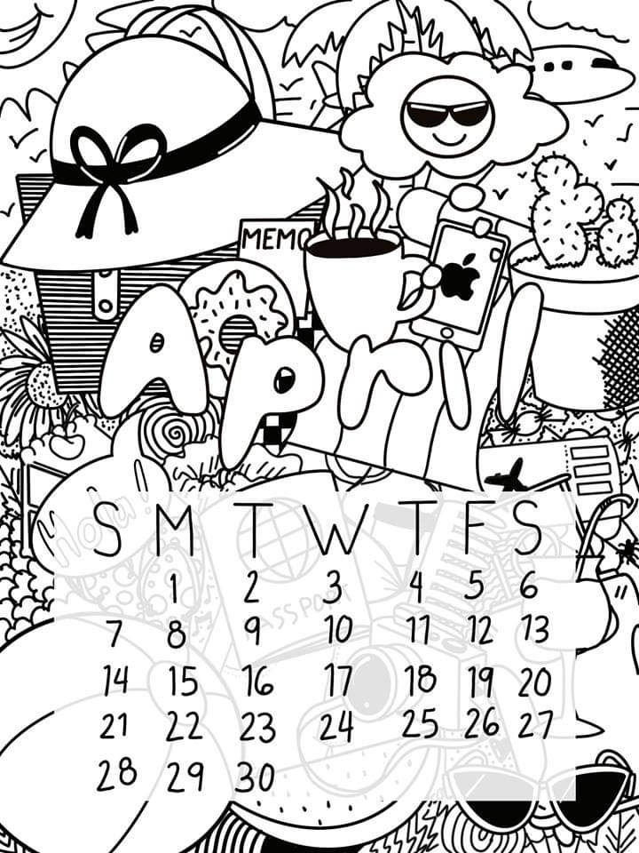My first Calendar (April 2019) - image 1 - student project