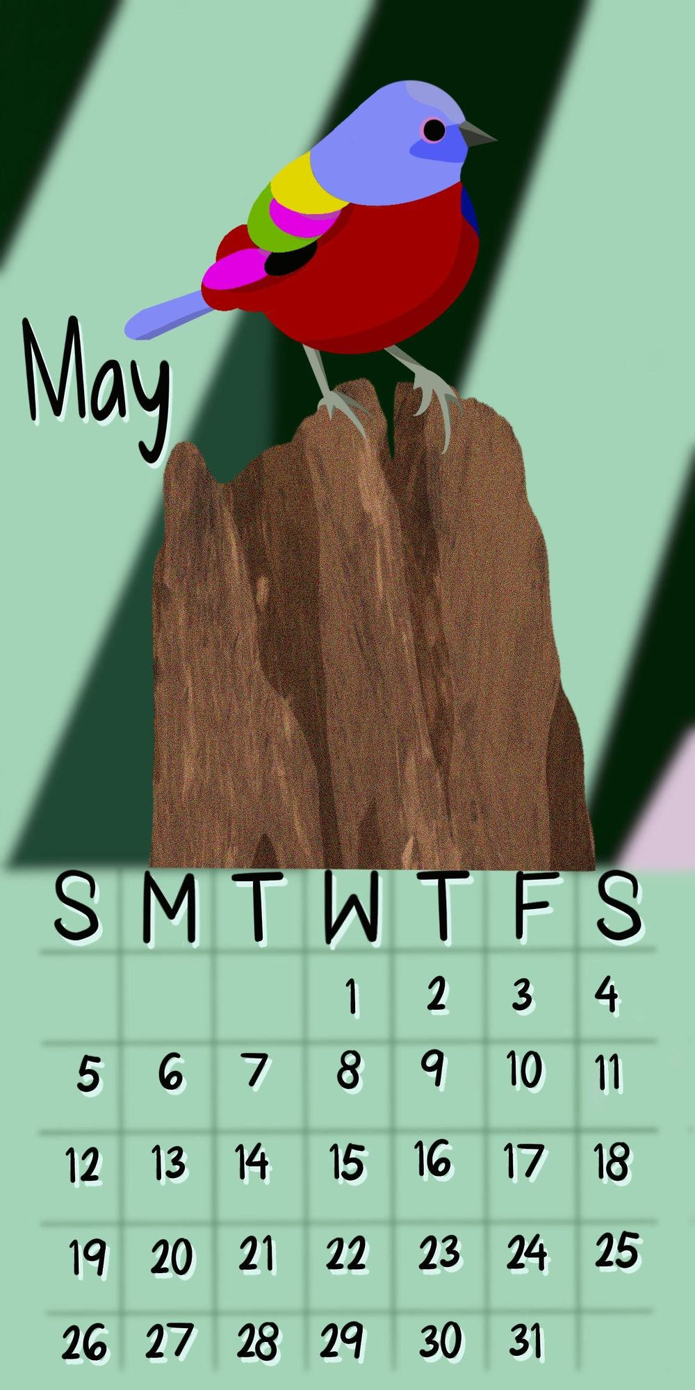 May 2019 Calendar - image 1 - student project