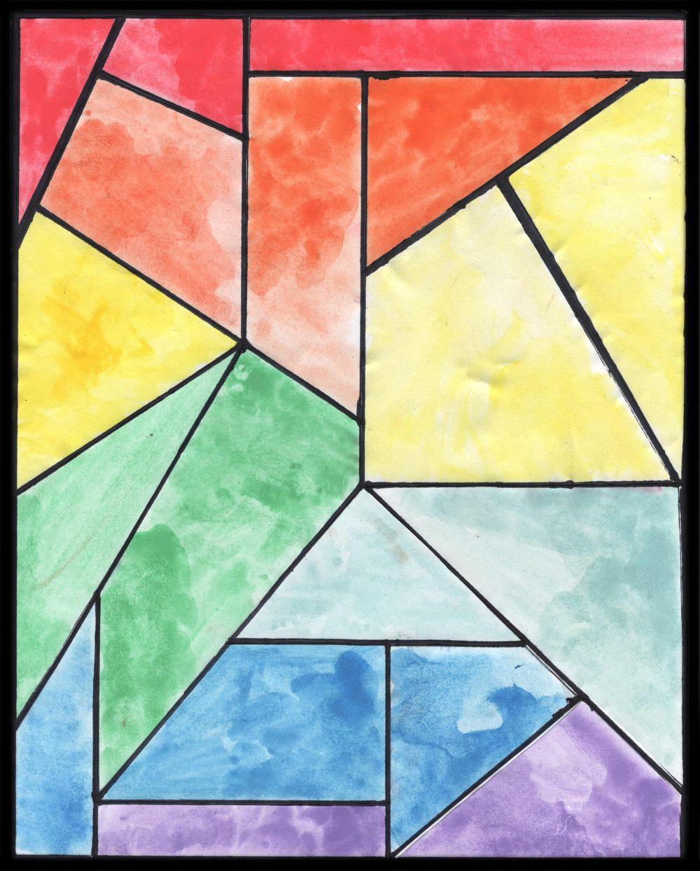 geometric rainbow - image 1 - student project
