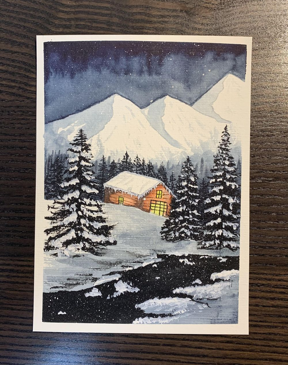 Snowy mountain - image 1 - student project