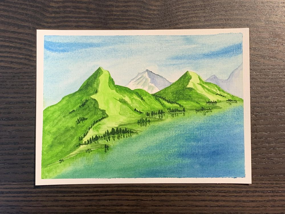 Watercolour landscapes - image 1 - student project