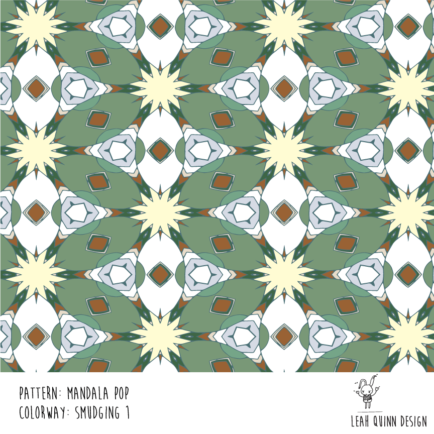 Mandala Pop Pattern  - Recolor Using Several Methods - image 2 - student project