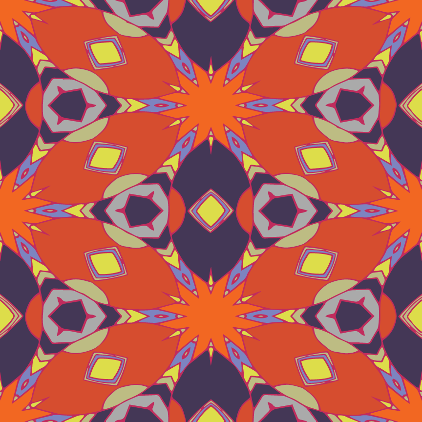 Mandala Pop Pattern  - Recolor Using Several Methods - image 6 - student project
