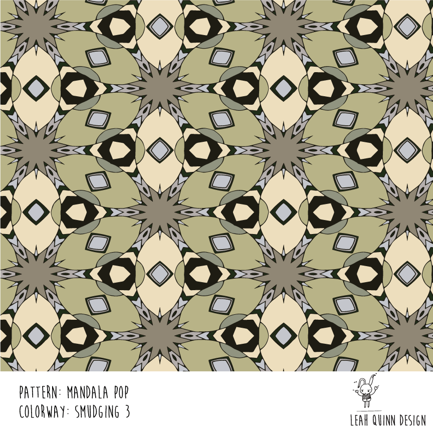 Mandala Pop Pattern  - Recolor Using Several Methods - image 4 - student project
