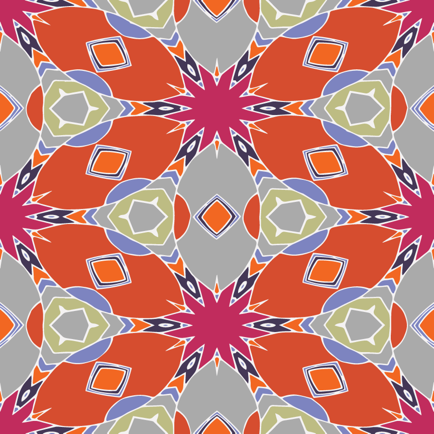 Mandala Pop Pattern  - Recolor Using Several Methods - image 7 - student project