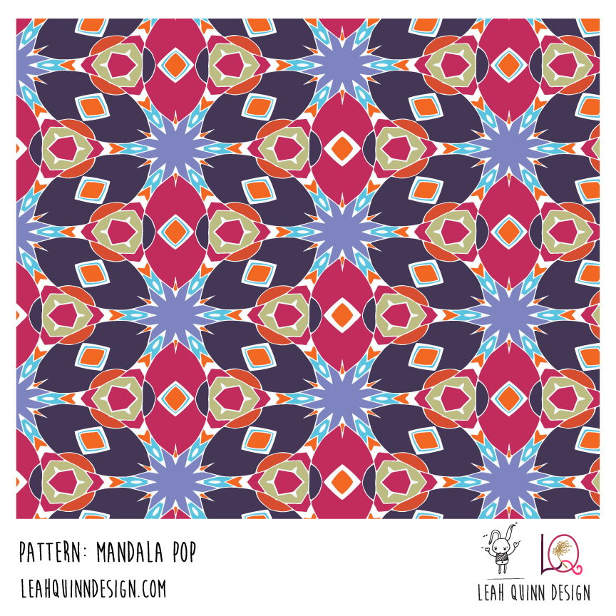 Mandala Pop Pattern  - Recolor Using Several Methods - image 5 - student project