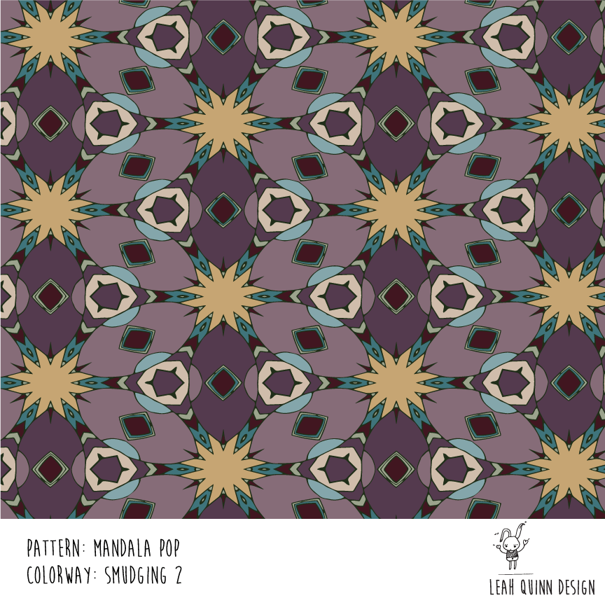 Mandala Pop Pattern  - Recolor Using Several Methods - image 3 - student project