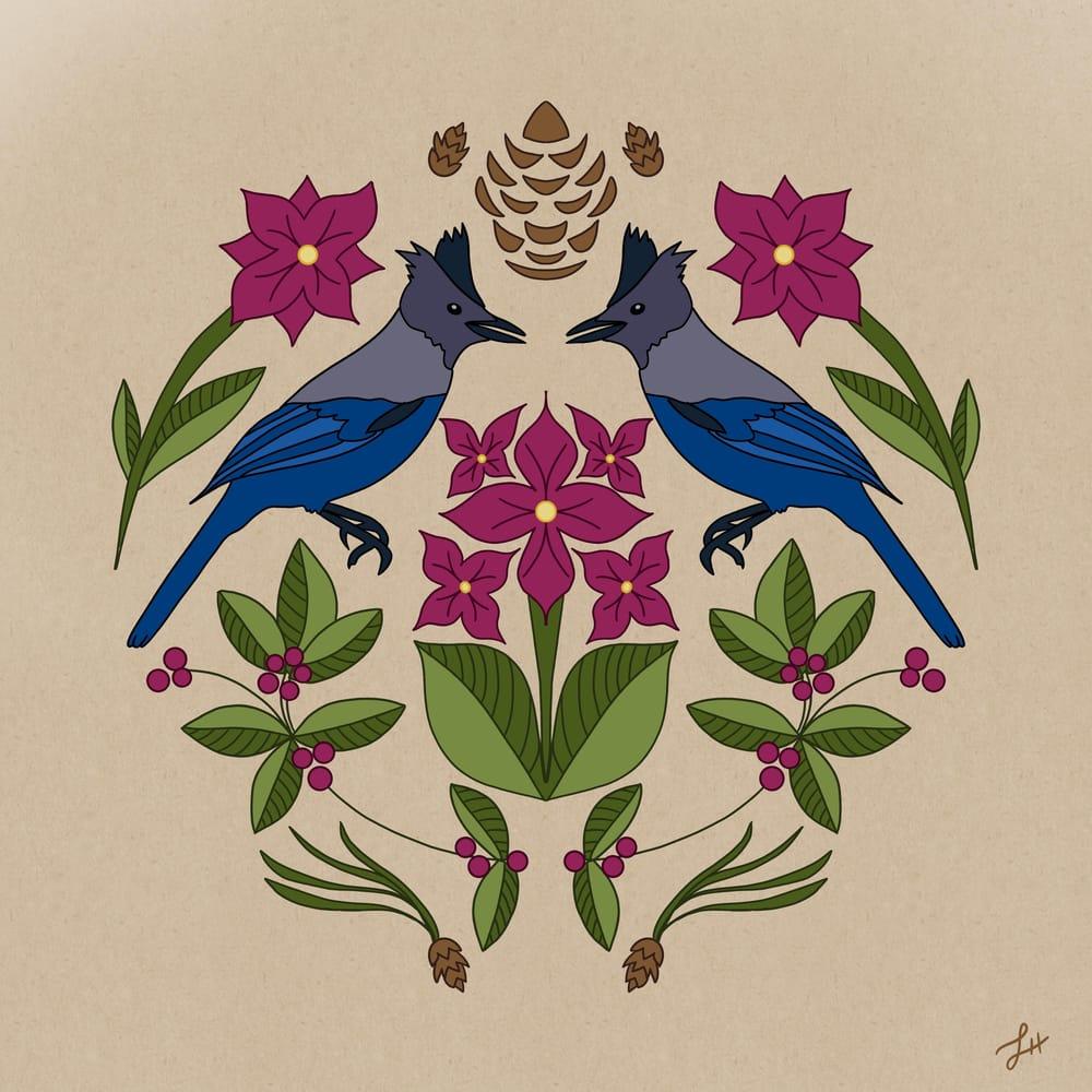 Steller's Jay Folk Art - image 1 - student project