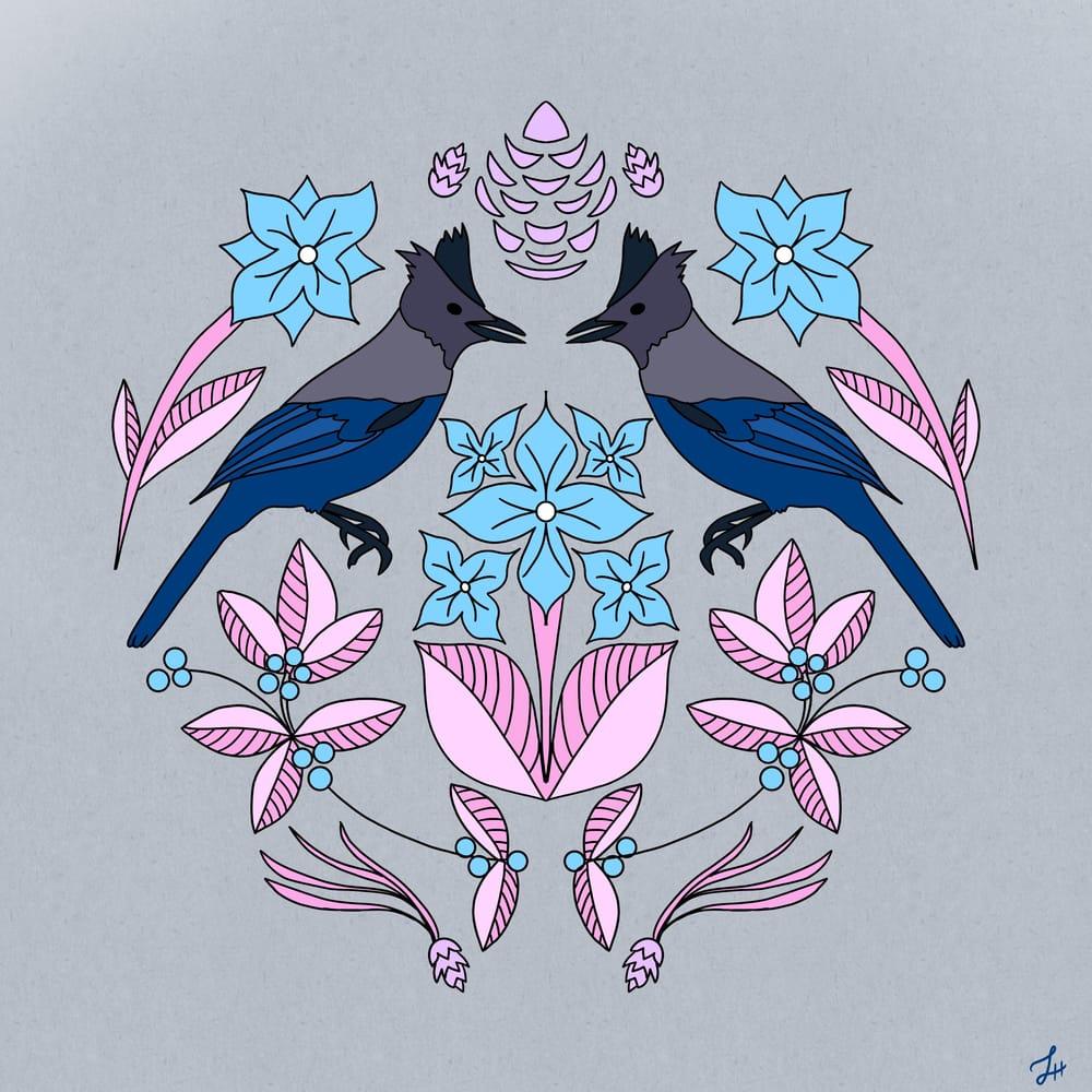 Steller's Jay Folk Art - image 2 - student project