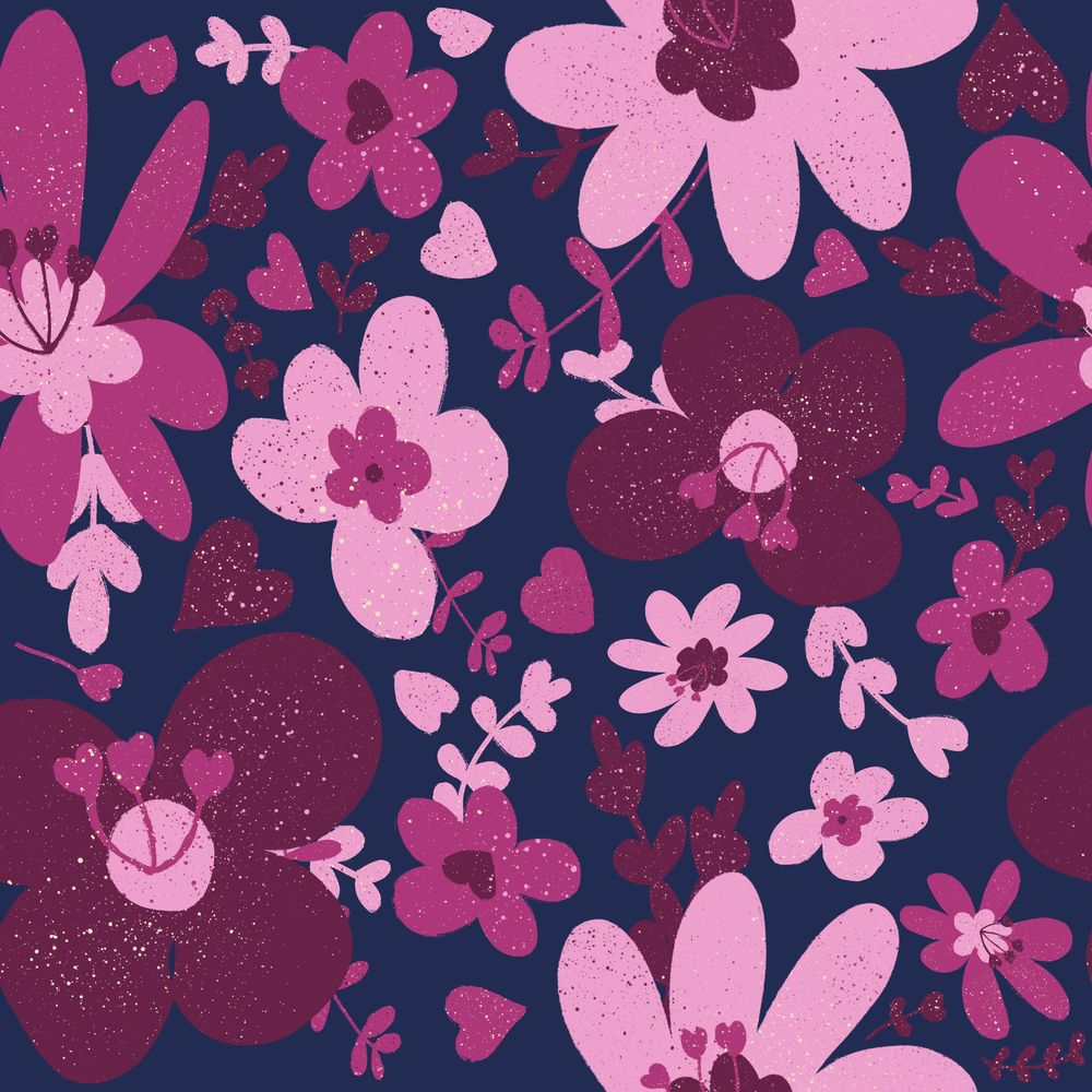 Retro Flowers - image 1 - student project