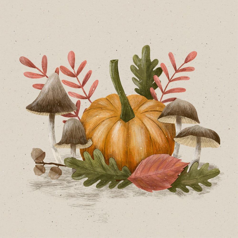 Procreate Autumn Illustration - image 1 - student project