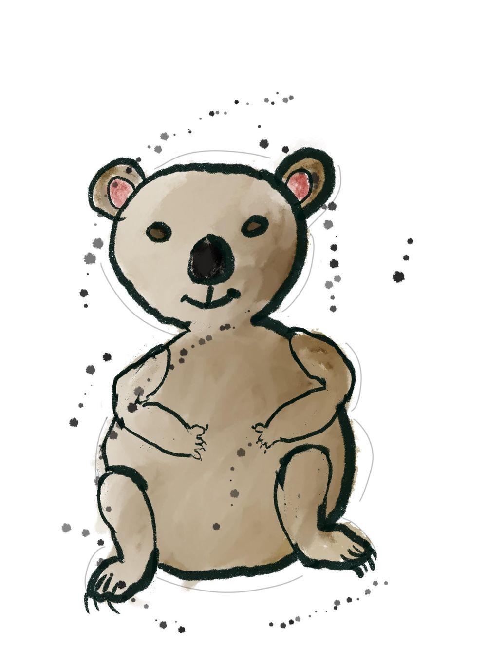 Sketchy Doodle Style Koala - image 1 - student project
