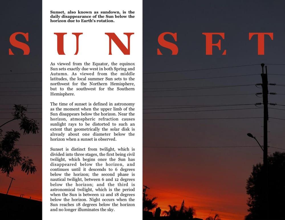 Sunset Magazine Page - image 1 - student project