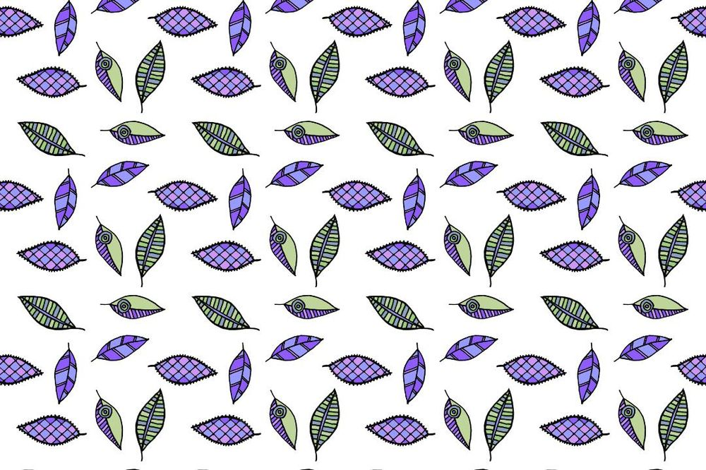 Color ways for the leaves pattern - image 3 - student project