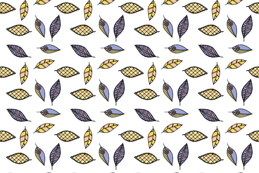 Color ways for the leaves pattern - image 2 - student project