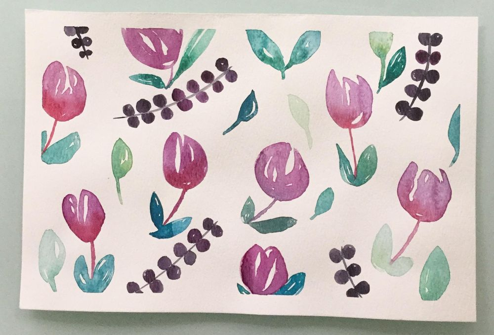 Watercolor Floral - image 1 - student project