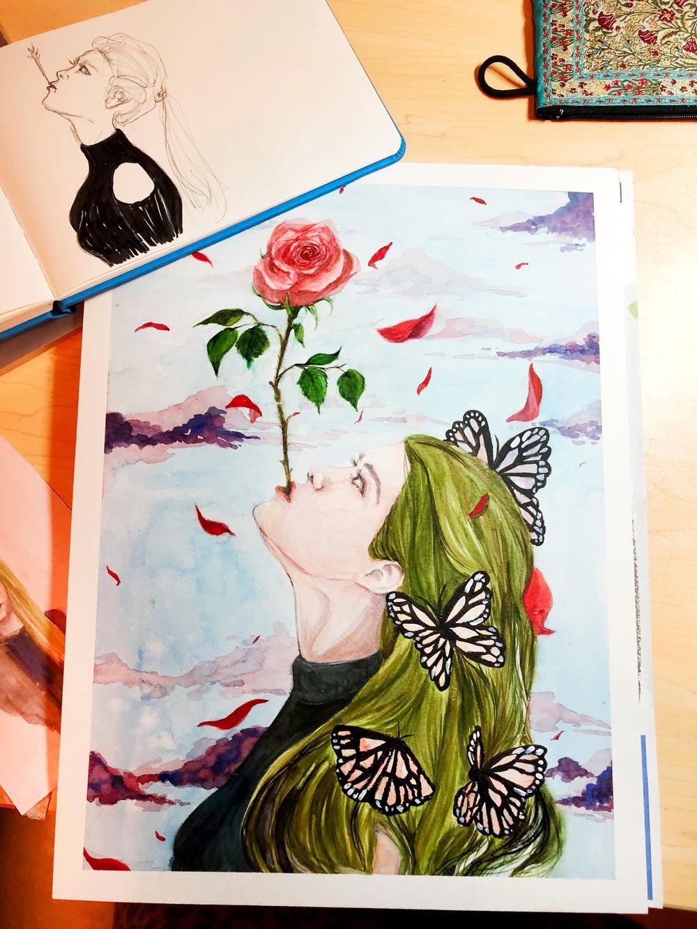 Portrait illustration - image 1 - student project