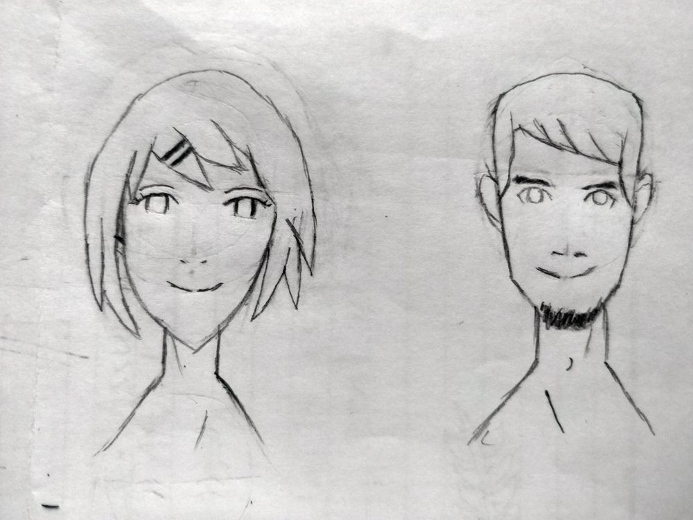 Anime Male & Female Face - image 1 - student project