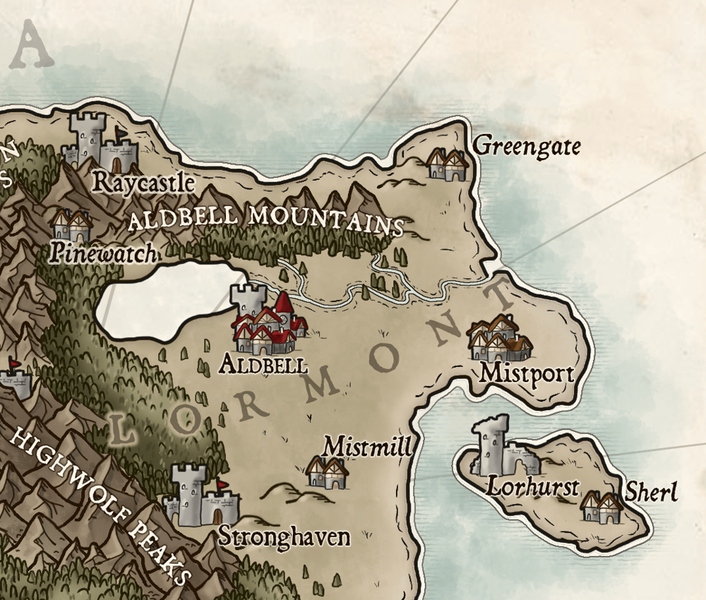 Map of Temaria (IV) - image 3 - student project