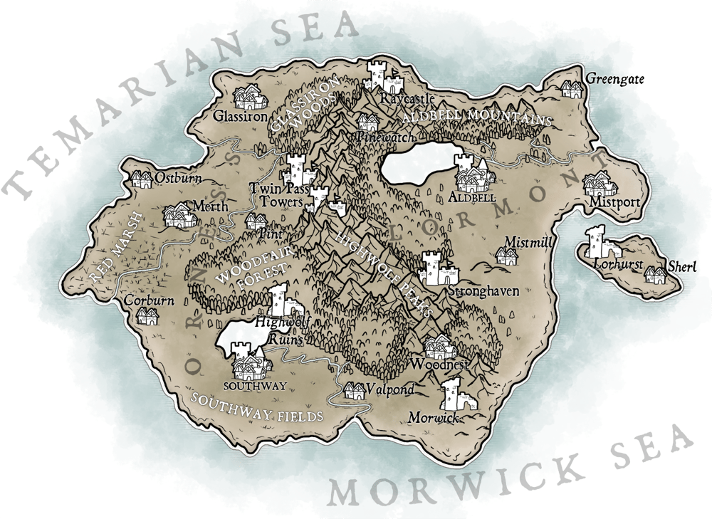 Map of Temaria (III) - image 1 - student project