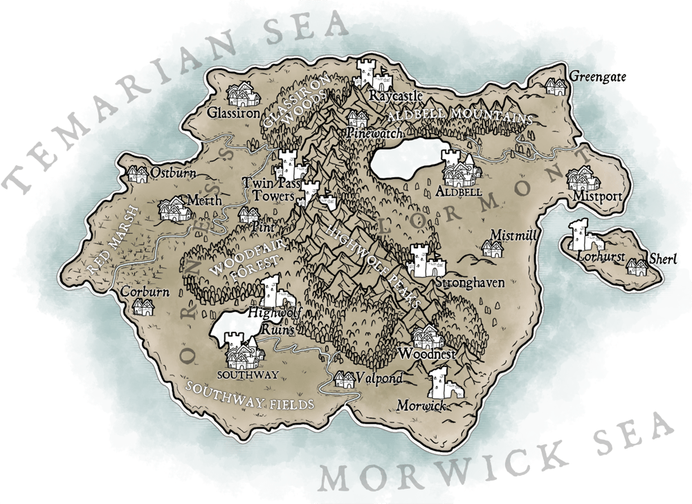 Map of Temaria (III) - image 4 - student project