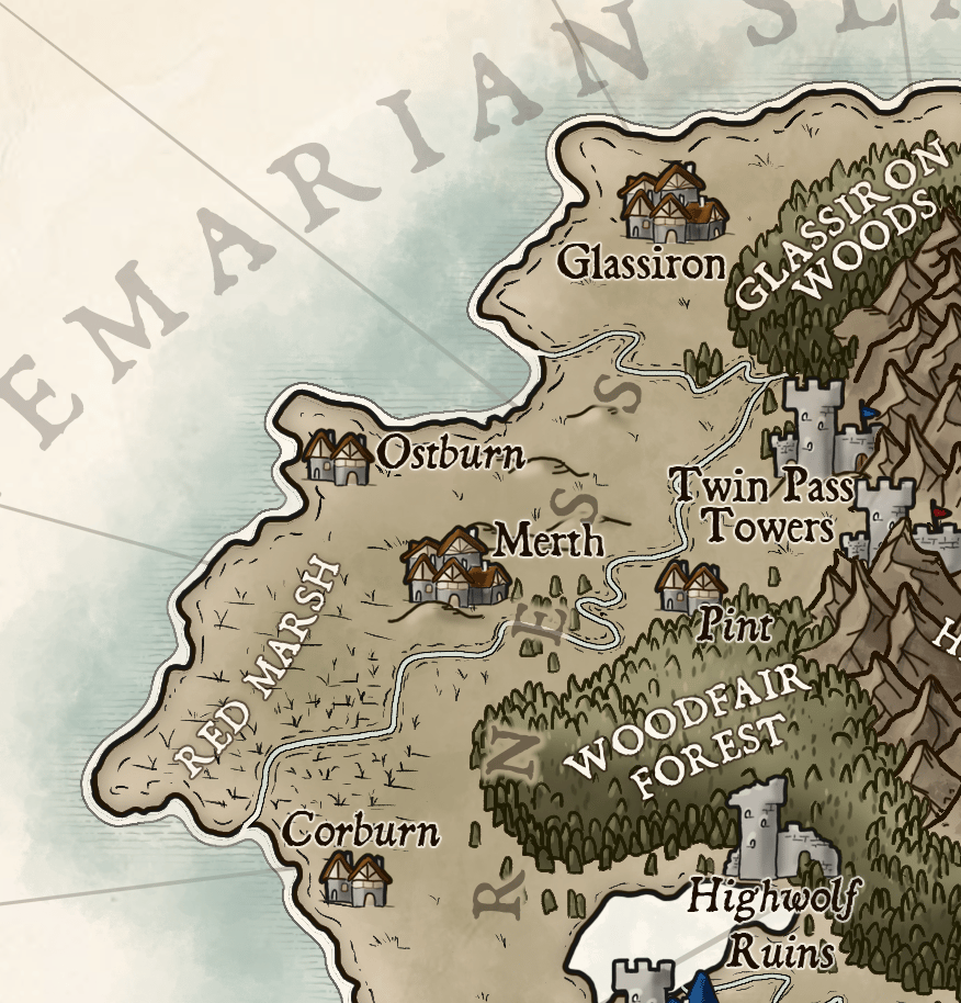 Map of Temaria (IV) - image 5 - student project