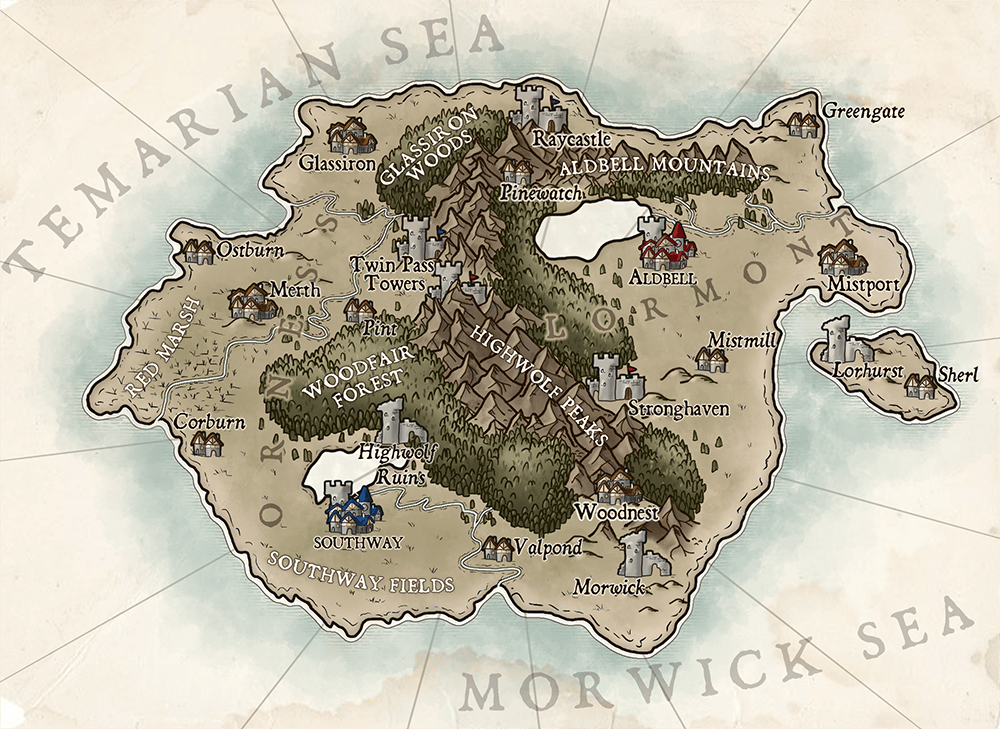 Map of Temaria (IV) - image 2 - student project