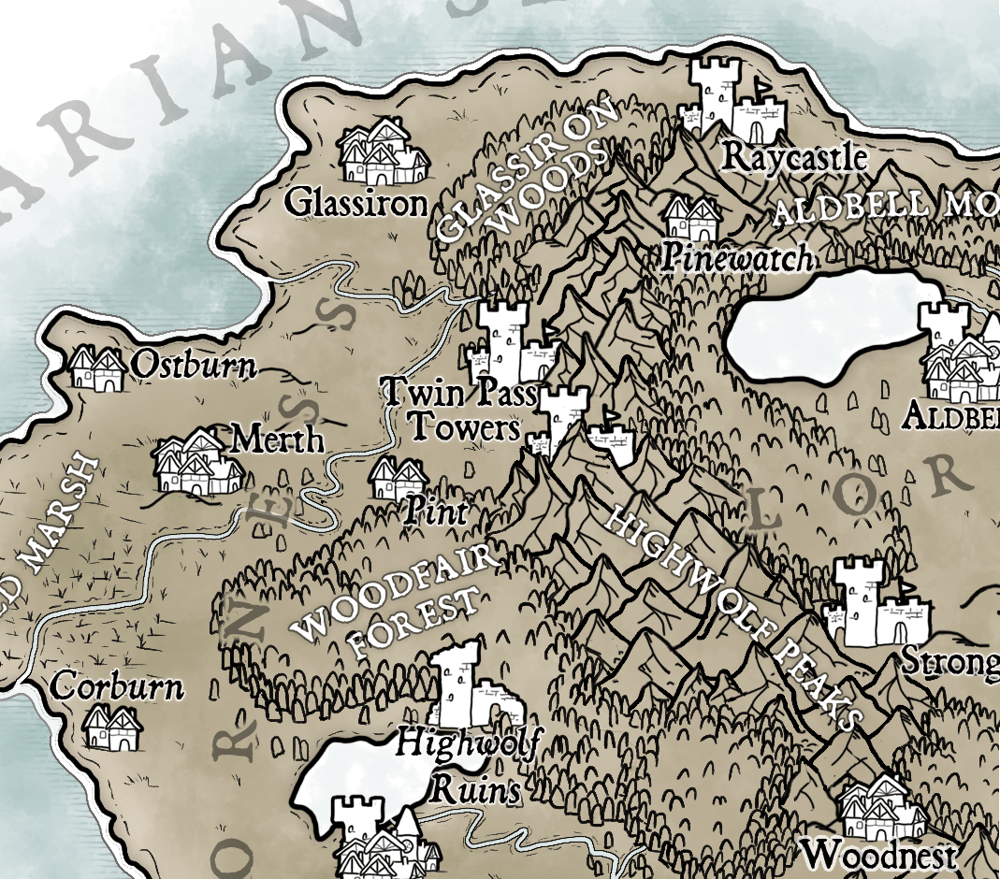 Map of Temaria (III) - image 3 - student project