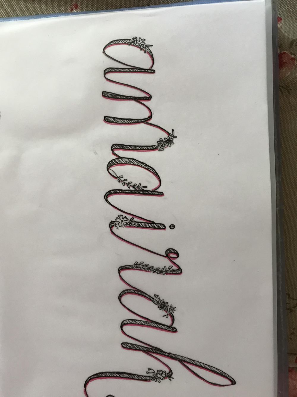 Flower alphabet - image 1 - student project