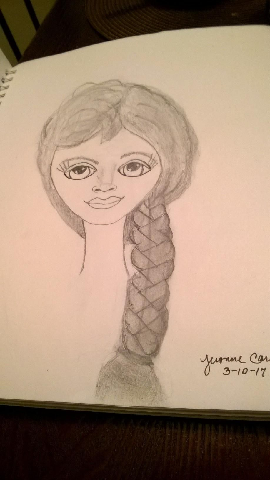 My First Female Character Attempt! - image 1 - student project
