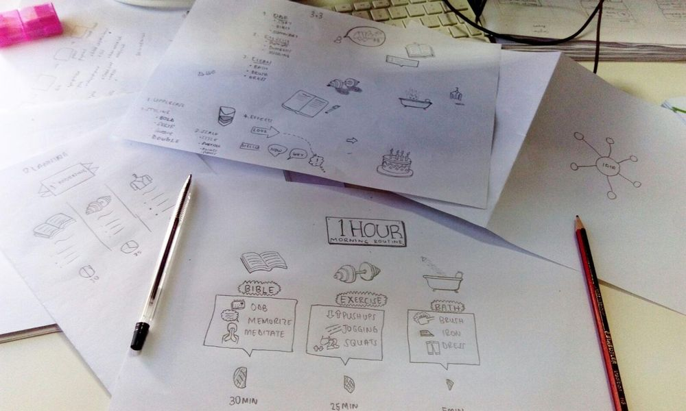 Ngeshlew Morning Routine Sketchnote - image 2 - student project