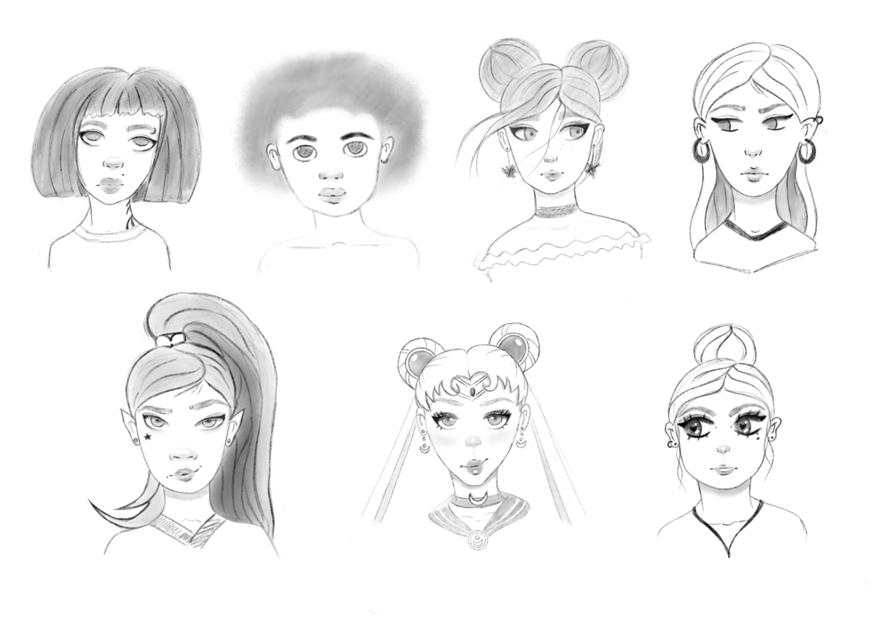 Female (and one guy) characters - image 1 - student project