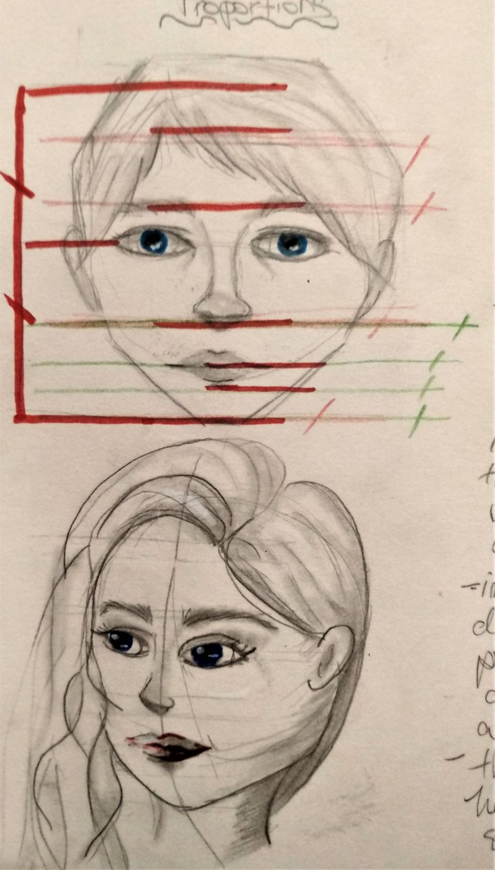 My first female character design course ever followed - image 1 - student project