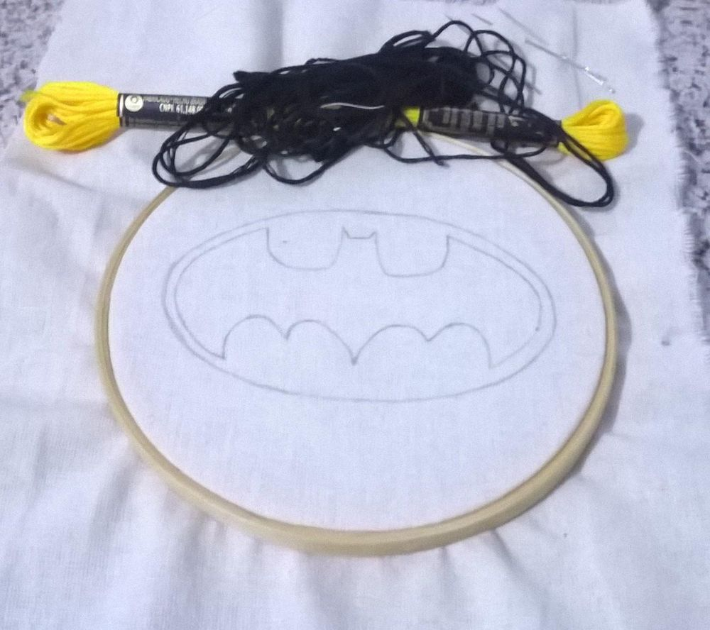 Batman Embroidery - image 1 - student project