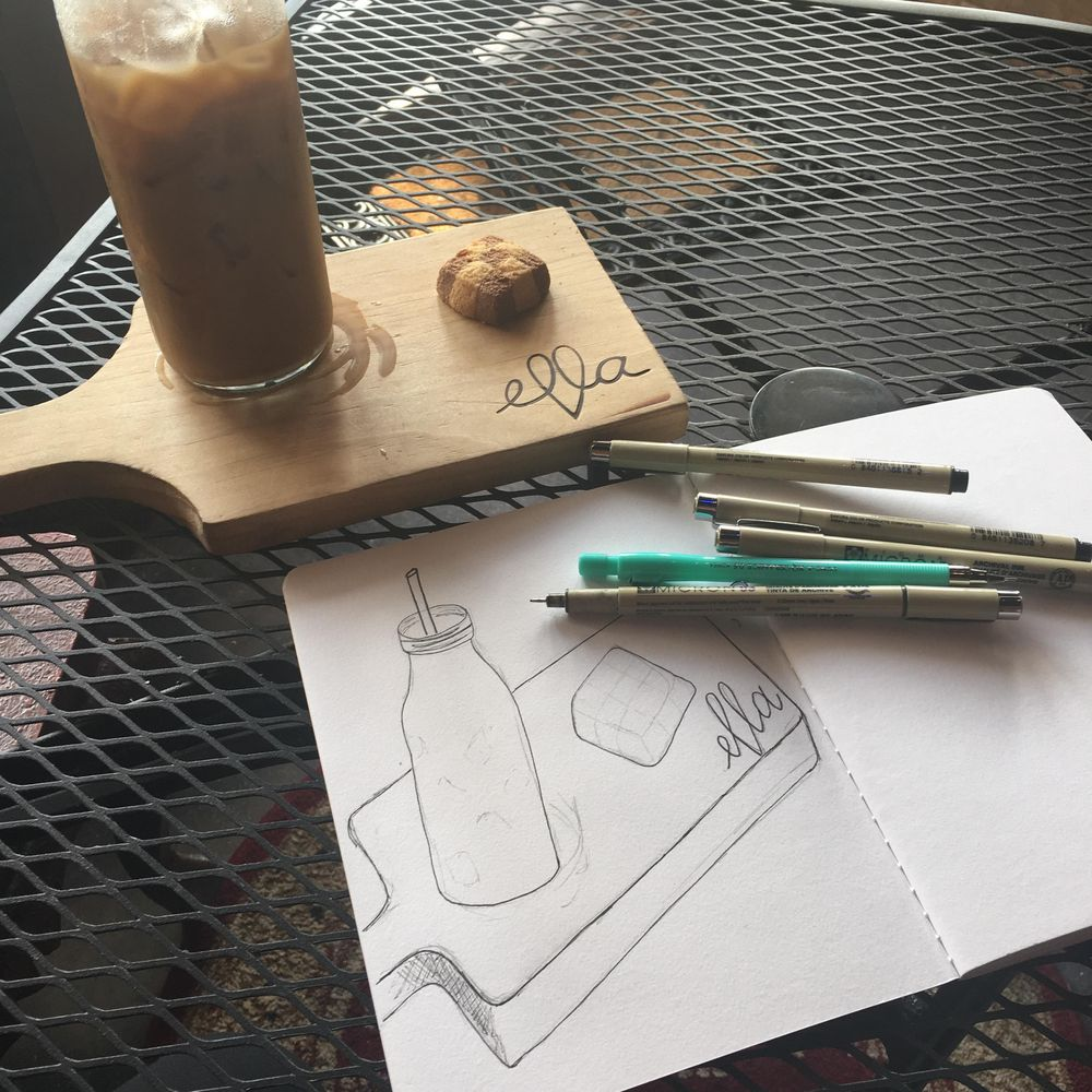 Coffee and Cold Brew Sketch - image 1 - student project